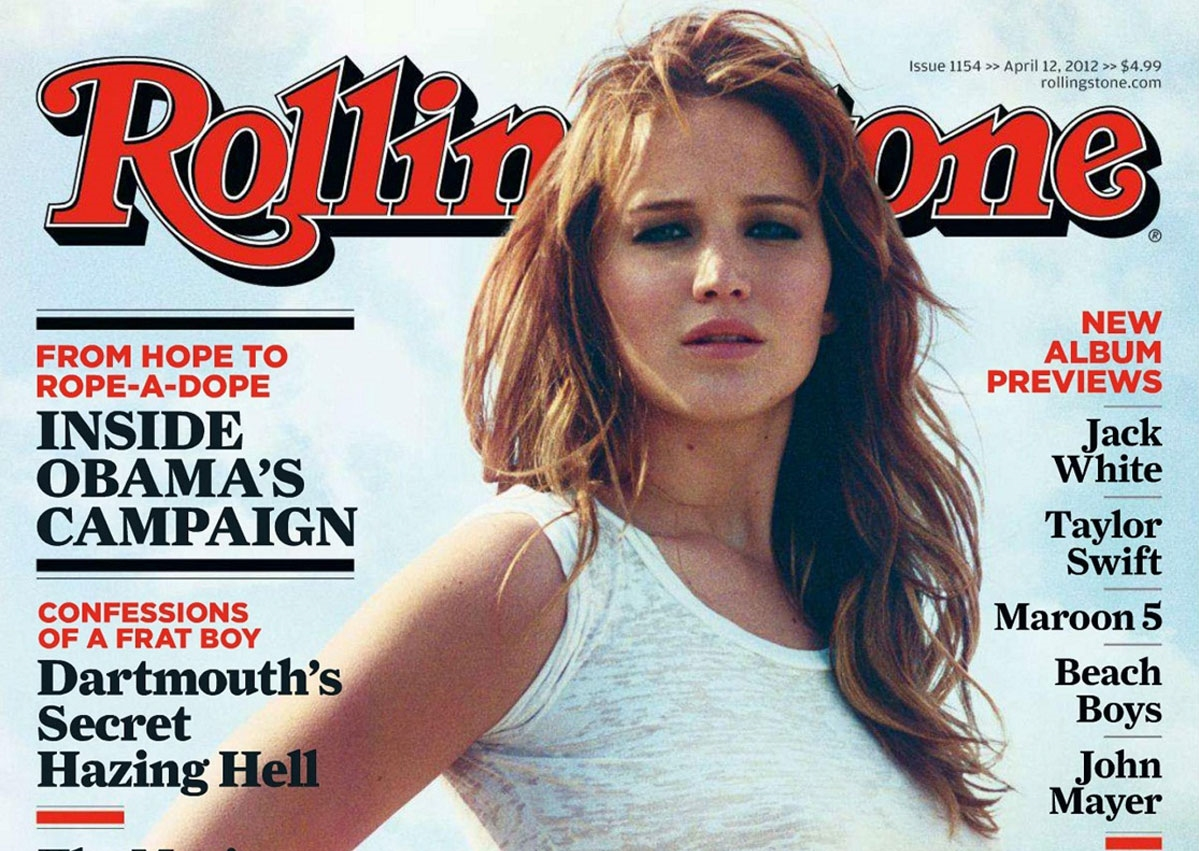 JENNIFER LAWRENCE in Rolling Stone Magazine, April 2012 Issue