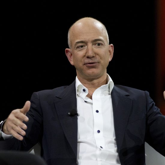 File photo of Amazon.com Chief Executive Officer Jeff Bezos during a keynote speech at the Re:Invent conference in Las Vegas