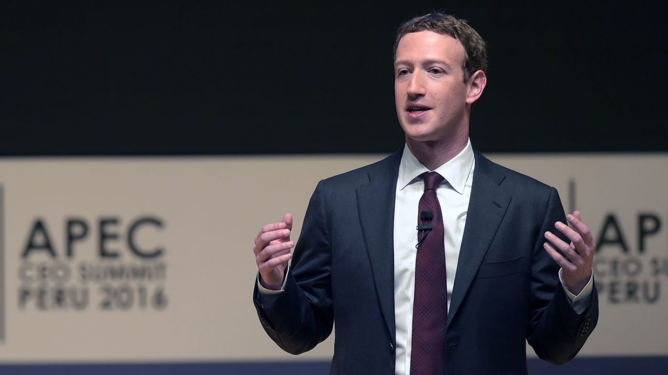 Facebook CEO Mark Zuckerberg says his company is responding to sharp criticisms over fake stories appearing in its news feeds. He's seen here speaking Saturdayat the APEC CEO Summit, part of the broader Asia-Pacific Economic Cooperation (APEC) Summit in Lima